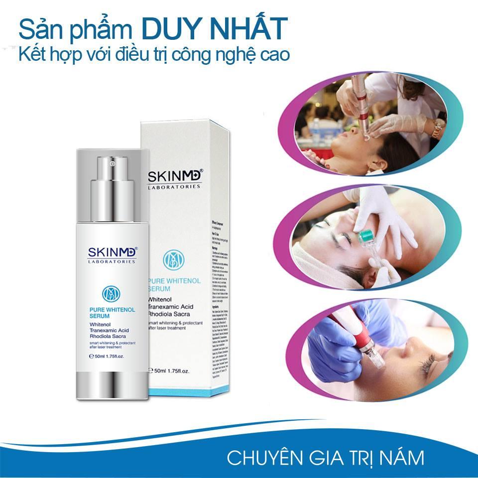 Tại sao cần sử dụng Serum điều trị nám Pure Whitenol Skin MD* sau Laser